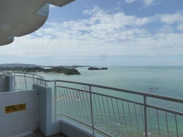 客室から眺める白浜方面