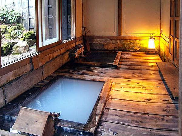 江戸時代の湯治場を再現した1番人気の貸切風呂