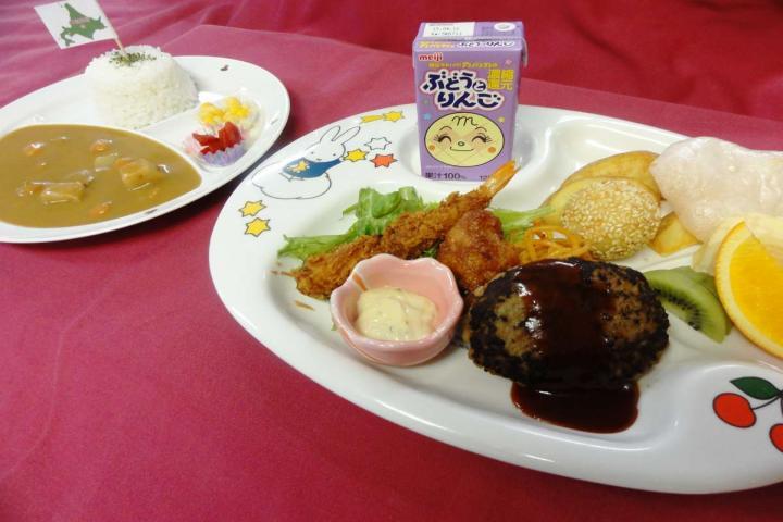 ご予約時、幼児(食事あり)を選択されたお子様のご夕食の一例