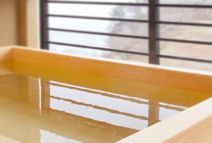 個室露天風呂 檜