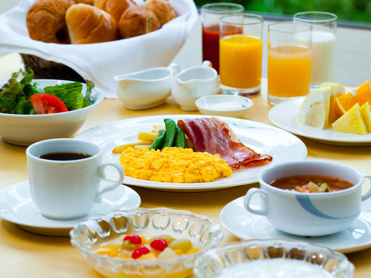 朝食ビュッフェ一例