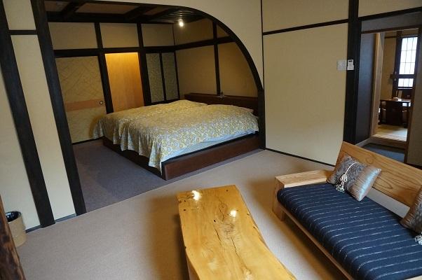 『花の壱番客室』(和室16畳+16畳ベットルーム+露天風呂)3階客室