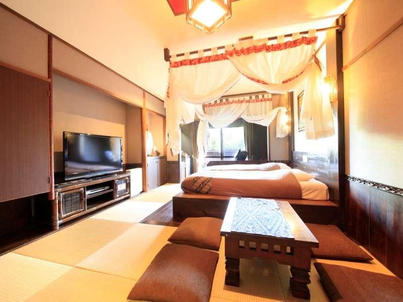 半露天風呂付 バリ風天蓋和洋室
