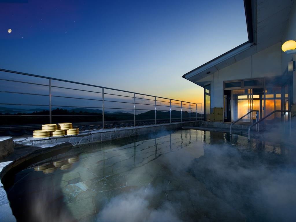 夕景の露天風呂