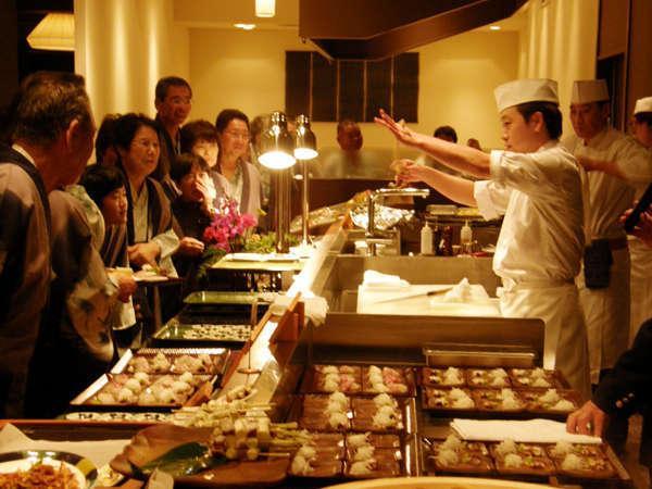 ◆下津井蛸の活けづくりショー