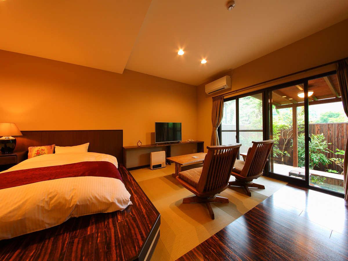 【客室】1階露天風呂付客室(一例)