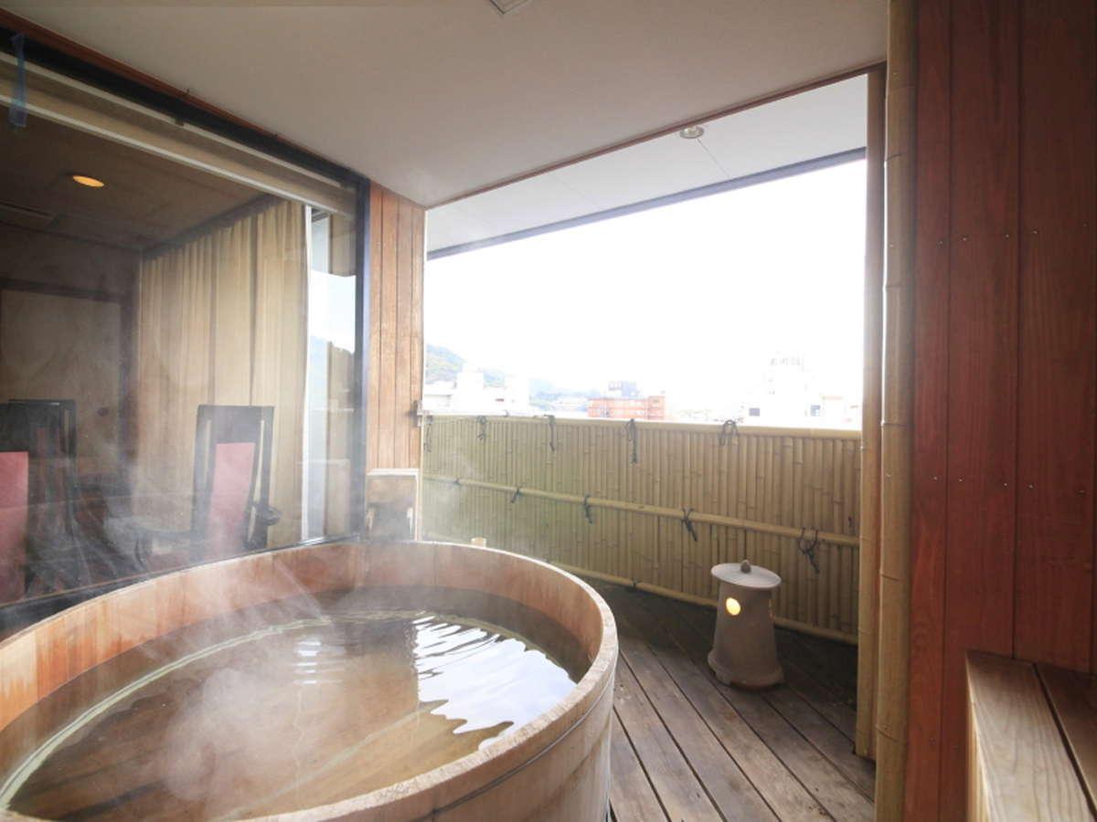最上階特別室の露天風呂