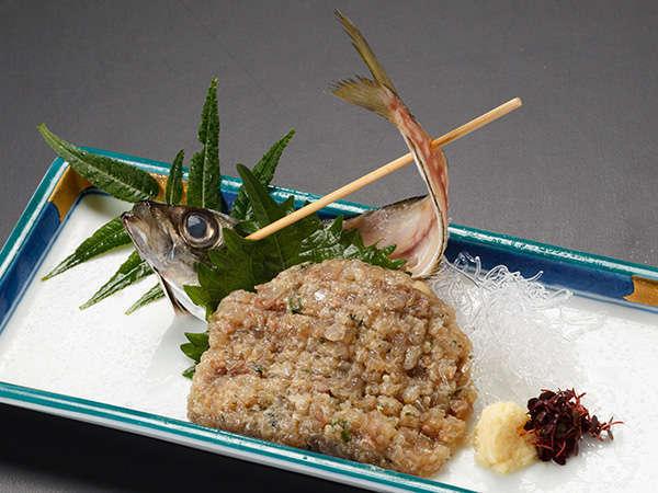 あじのなめろう 鯵を味噌やネギなどと一緒に細かく叩いた南房総の郷土料理です。(イメージ)