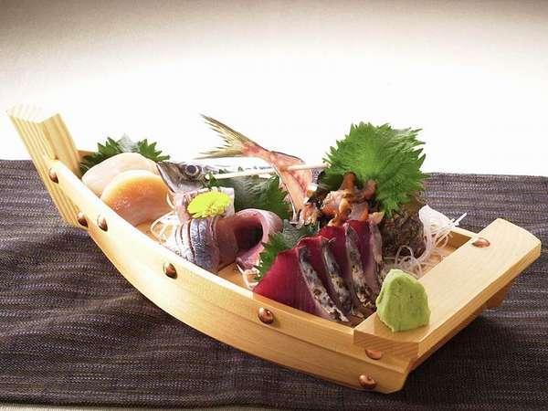 魚貝の舟盛