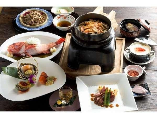 和食コースの一例。渾身の一品一品をお楽しみ下さい。