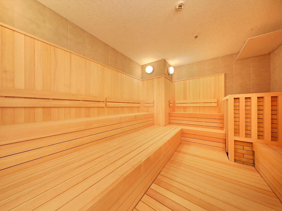 大浴場にはサウナもあります