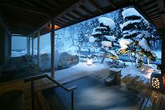 写真:喜久の湯 青森桧葉風呂 冬イメージ