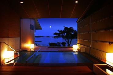 写真:貸切風呂 朝日見の湯