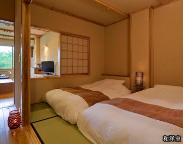 【深山】半露天風呂付和洋室(和室)