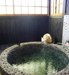 写真:有為の奥山 石造りの内風呂