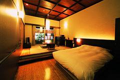 和風モダン客室 寝室