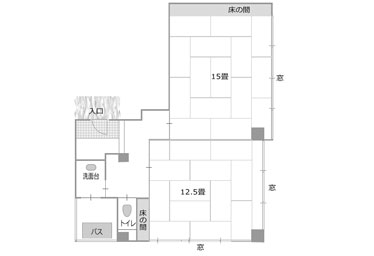 写真:最上階7階の貸切プライベートフロアタイプ