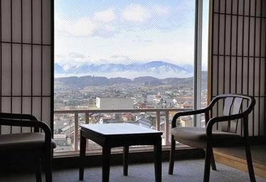 写真:眺めの良い小柳標準の観山楼12畳和室タイプ<<お部屋食可>>