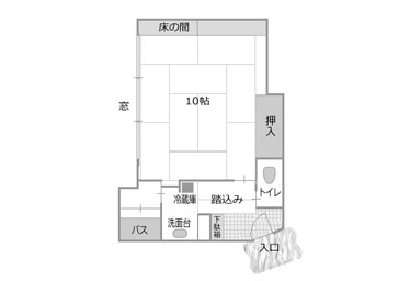 写真:お手頃な観山楼10畳和室タイプ<<お部屋食可>>