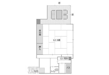 写真:フロア全体が禁煙客室の禁煙12.5畳和室タイプ
