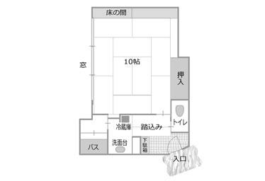 写真:シンプルな10畳和室お手頃タイプ