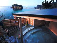 写真:貸切露天風呂「だんがい風呂」