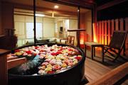 写真:露天風呂付客室「清月亭」