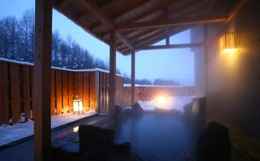 露天風呂:冬