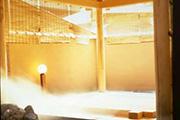 写真:露天風呂(樹齢300年の高野槙・女性用)