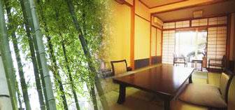 庭園露天風呂付客室:檜の湯