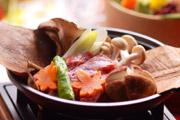 写真:牛肉朴葉焼き