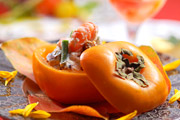 写真:柿器の和え物