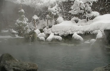 写真:露天風呂(冬)