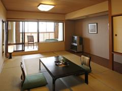 写真:展望風呂付和室(客室)