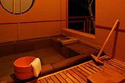 写真:欅_石の半露天風呂