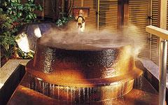 写真:滝見の湯屋 五右衛門風呂