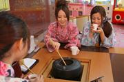 写真:薬草茶コーナー