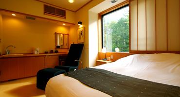 写真:露天風呂付客室「水花の庄」シングルルーム