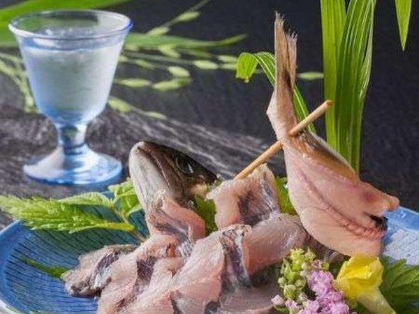 清流の王者 岩魚の姿づくり 料理例