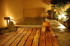 写真:貸切露天風呂「風の湯」