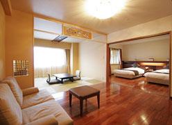 写真:露天風 展望風呂付客室