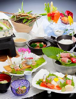 写真:旬を楽しむ 源泉の宿らんりょうの旬彩和膳