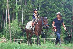 写真:ふじさん牧場 乗馬体験
