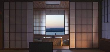 写真:迎賓室からの眺望