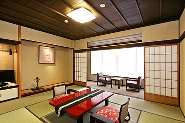 写真:純和風の客室