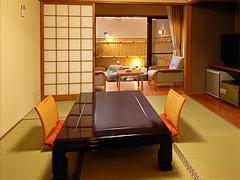 写真:露天風呂付客室(露天風呂+和室6畳)