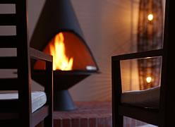 写真:暖炉