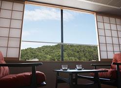 写真:山の見えるお部屋