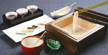 写真:包み湯葉とはんなり豆腐