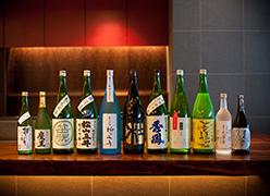 写真:料理長厳選日本酒